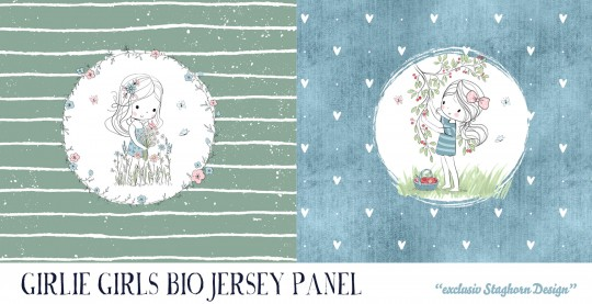 VORBESTELLUNG *Cherry Girl Panel* Bio Jersey Panel *Girlie Love Serie* *Staghorn exklusiv* Eigenprod