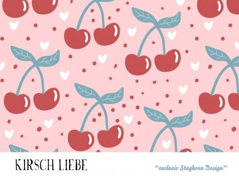 VORBESTELLUNG *Cherries* Bio Jersey *Girlie Love Serie* *Staghorn exklusiv* Eigenproduktion