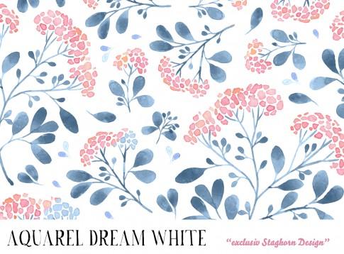 *Aquarel Dream White* Bio Jersey *Unicorn Girls Serie*