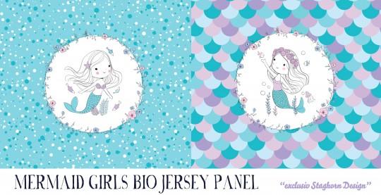 VORBESTELLUNG *New Mermaid Panel* Bio Jersey Panel *Mermaid Girlies Serie* *Staghorn exklusiv* Eigen