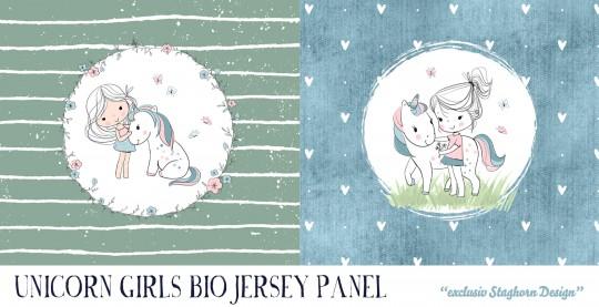 VORBESTELLUNG *Unicorn Girls Panel* Bio Jersey Panel *Girlie Love Serie* *Staghorn exklusiv* Eigenpr