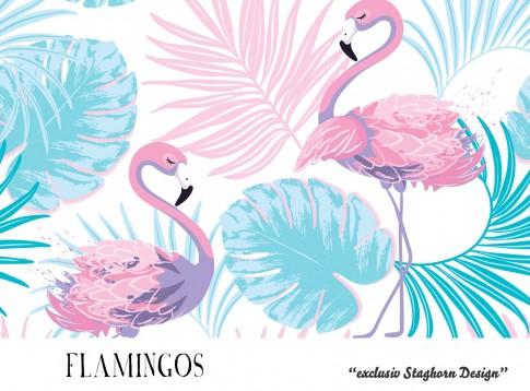 VORBESTELLUNG *Flamingos* Bio Jersey *Mermaid Girlies Serie* *Staghorn exklusiv* Eigenproduktion