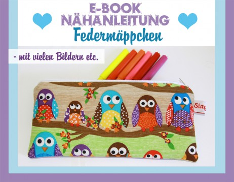 Federmäppchen - Anleitung 2 Schnitte - E-Book