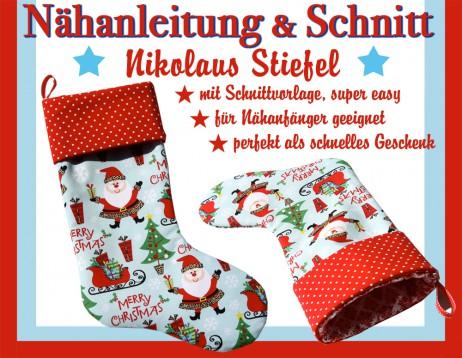 Fix Nähanleitung & Schnitt Nikolaus Stiefel - E-Book