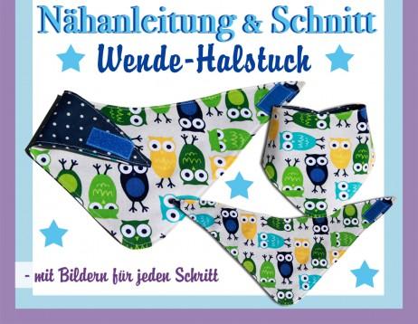 Fix Nähanleitung Wende-Halstuch mit Schnittmuster - E-Book