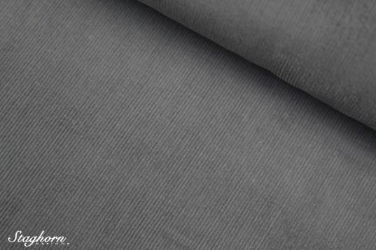 Feincord uni grau - Baumwoll Cord uni