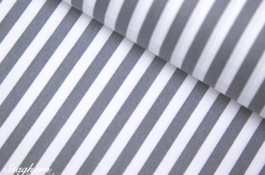 Streifen Stoff grau weiß Baumwollstoff 0,5cm