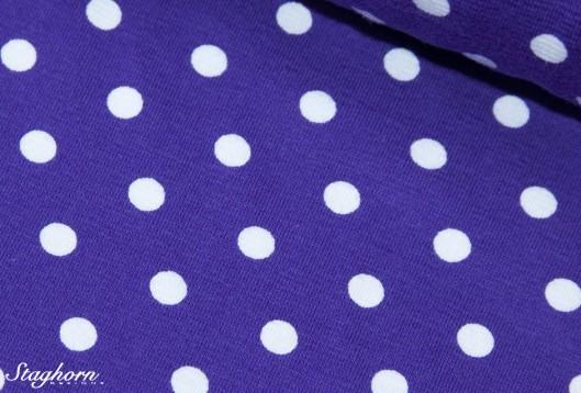 Stenzo Jersey Punkte lila weiß Punktestoff