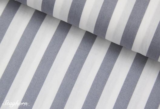 1cm breite Streifen baumwolle grau weiß
