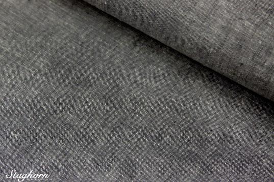Leinenstoff Jeans schwarz