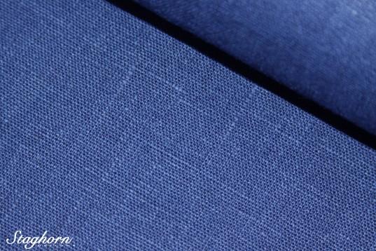Leinenstoff Jeans Blau 100% Leinen