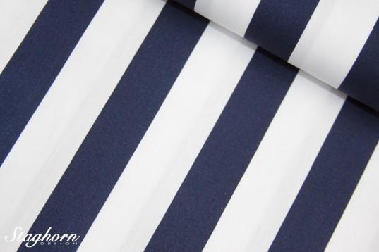 2,2cm breite Streifen Baumwolle dunkelblau