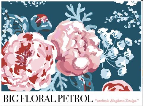 *Big Floral Petrol* Bio Sweat *Winter Mädchen Volume 2*