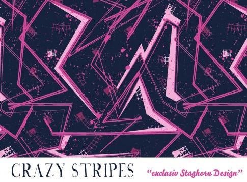 Crazy Stripes Bio Jersey pink
