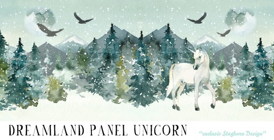 *Dreamland Unicorn Panel* Bio Sweat
