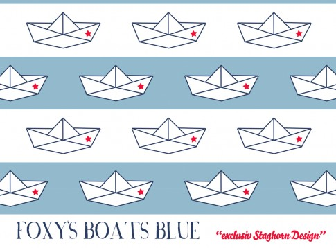 Foxy's Boats *blue red* Bio-Jersey