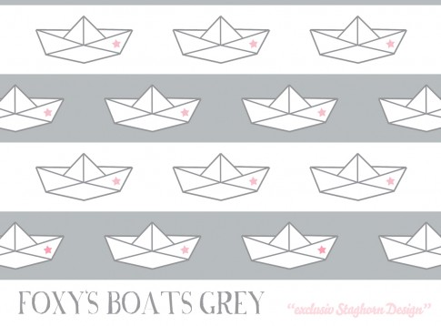Foxy's Boats *grey rose* Bio-Jersey