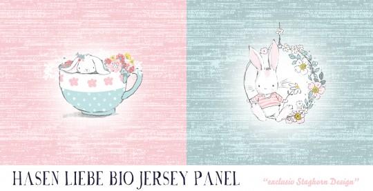 *Hasen Liebe Panel* Bio Jersey *Hasen Liebe Serie*