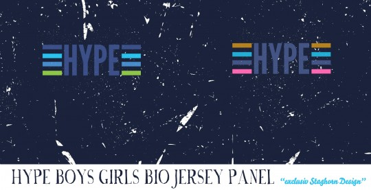 Hype Panel Navy Blue Bio Jersey *Hype Serie*