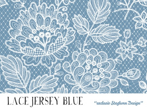 *Lace Blue* Bio Jersey *Summer Girls Serie*