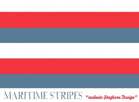 Maritime Stripes rot Bio-Jersey