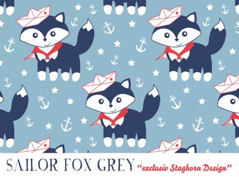 Sailor Fox *blue red* Bio-Jersey