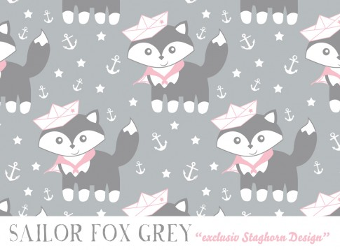 Sailor Fox *grey rose* Bio-Jersey