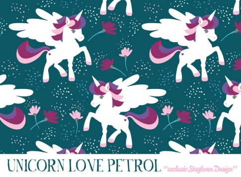 Unicorn Love Bio Jersey petrol
