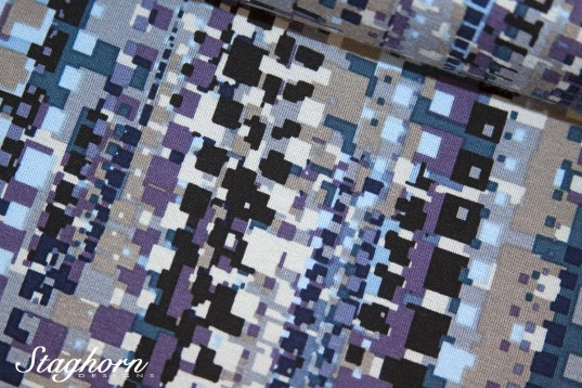 Angebot: Viskose Jersey Grafik Traum lila - elastisch - Oeketex