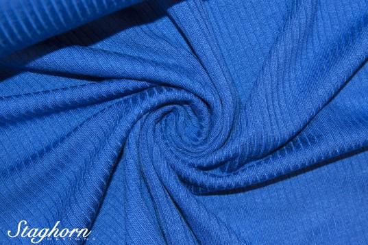 Viskose Rippen Jersey royal - Öketex 100 - elastisch