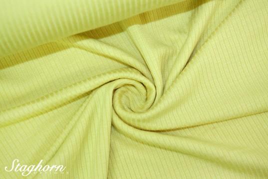 Viskose Rippen Jersey gelb - Öketex 100 - elastisch