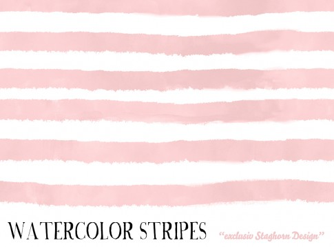 *Rose Watercolor Stripes* Bio Jersey *Breezy Blossoms*