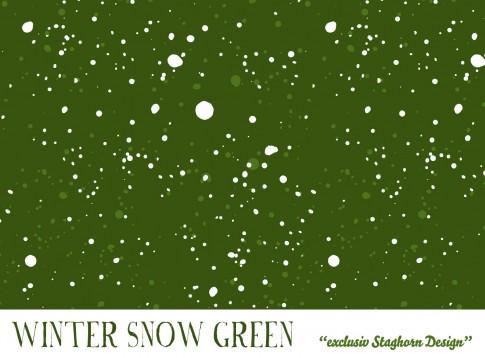 *Schneegestöber Green* Bio Sweat *Winter Jungs*