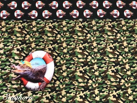 Super Sonderpreis: Jersey Panel *Alligator* elastisch - Oeketex - 1m x 1,50m
