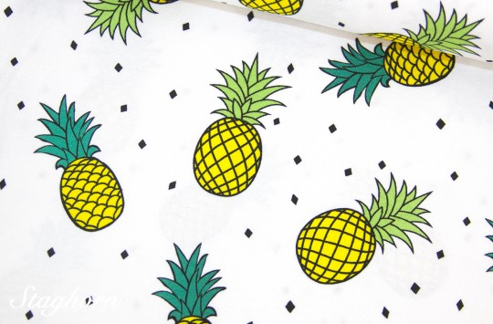 Ananas Jersey *Summer Love* Jersey - Oeketex - elastisch