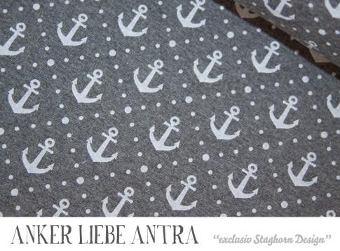 Vintage Anker Liebe antra meliert Bio-Sweat