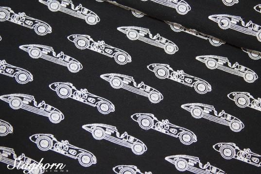 Stenzo Jersey schwarz *cars cars cars* - Oeketex - elastisch