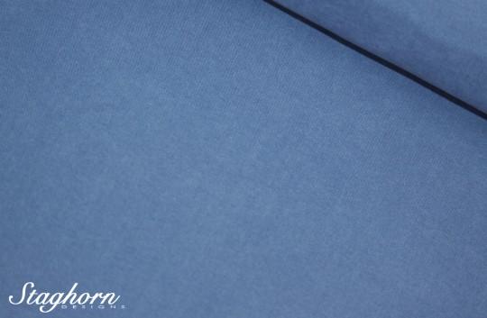 *Badehosen Stoff* rauchblau *Capri* - weicher Mikrofaser Stoff