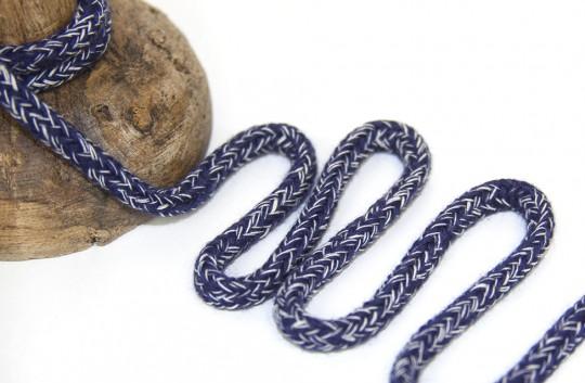 Baumwoll Kordel navy meliert 5mm Durchmesser