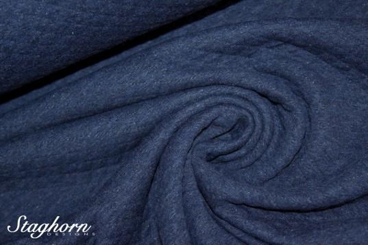 Baumwoll Steppstoff Raute indigo blau meliert Stepper - Steppstoff