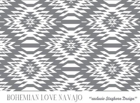 Bohemian Love *Navajo grau* Bio-Jersey