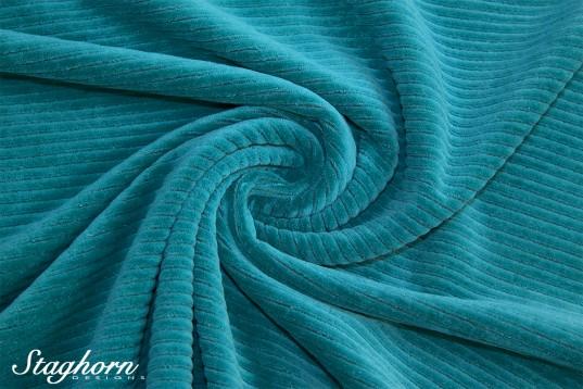 Hochwertiger Breitcord Jersey aqua *brandneu* - elastisch - Oeketex
