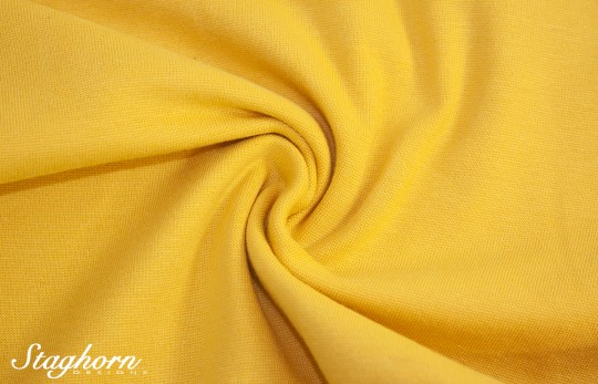*Brandneu* uni gelb Feinstrick Bündchen 70cm breit *Top Preis*