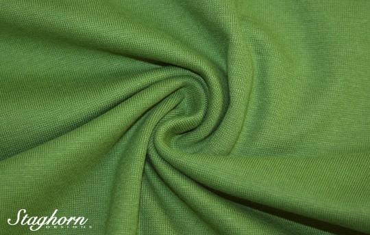 *Brandneu* uni gras grün Feinstrick Bündchen 70cm breit *Top Preis*