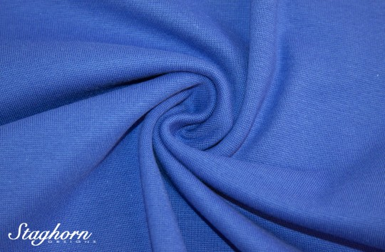 *Brandneu* uni jeans blau Feinstrick Bündchen 70cm breit *Top Preis*