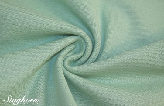 *Brandneu* uni pastell grün Feinstrick Bündchen 70cm breit *Top Preis*