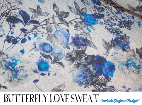 Butterfly Love Sweat *blau*