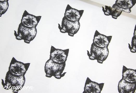 Stenzo Jersey *cool cats* weiß Jersey - Oeketex - elastisch