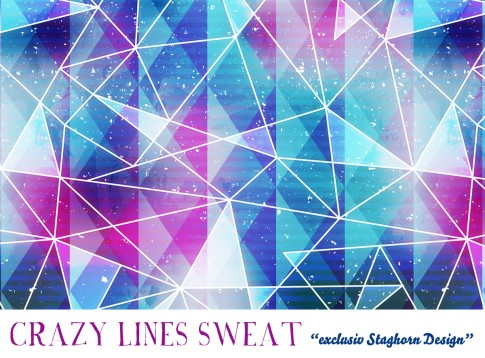 Crazy Lines Bio Sweat beere blue