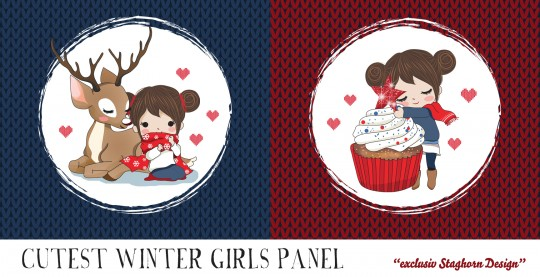 VORBESTELLUNG Cutest Winter Girls Panel Bio Sweat *Cutest Winter Girls*